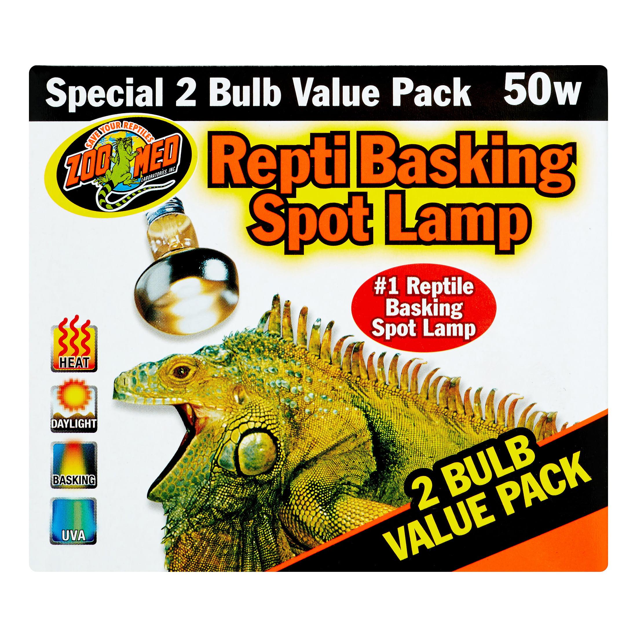 Zoo Med Repti Basking Spot Lamp 2 Bulb Value Pack, 50 Watt