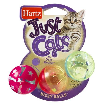 (4 Pack) Hartz Just For Cats Bizzy Balls Cat Toy (Pack Cat Balls)