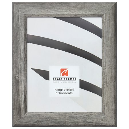 Craig Frames Arthur, Gray Barnwood Picture Frame, 12 x 18 Inch
