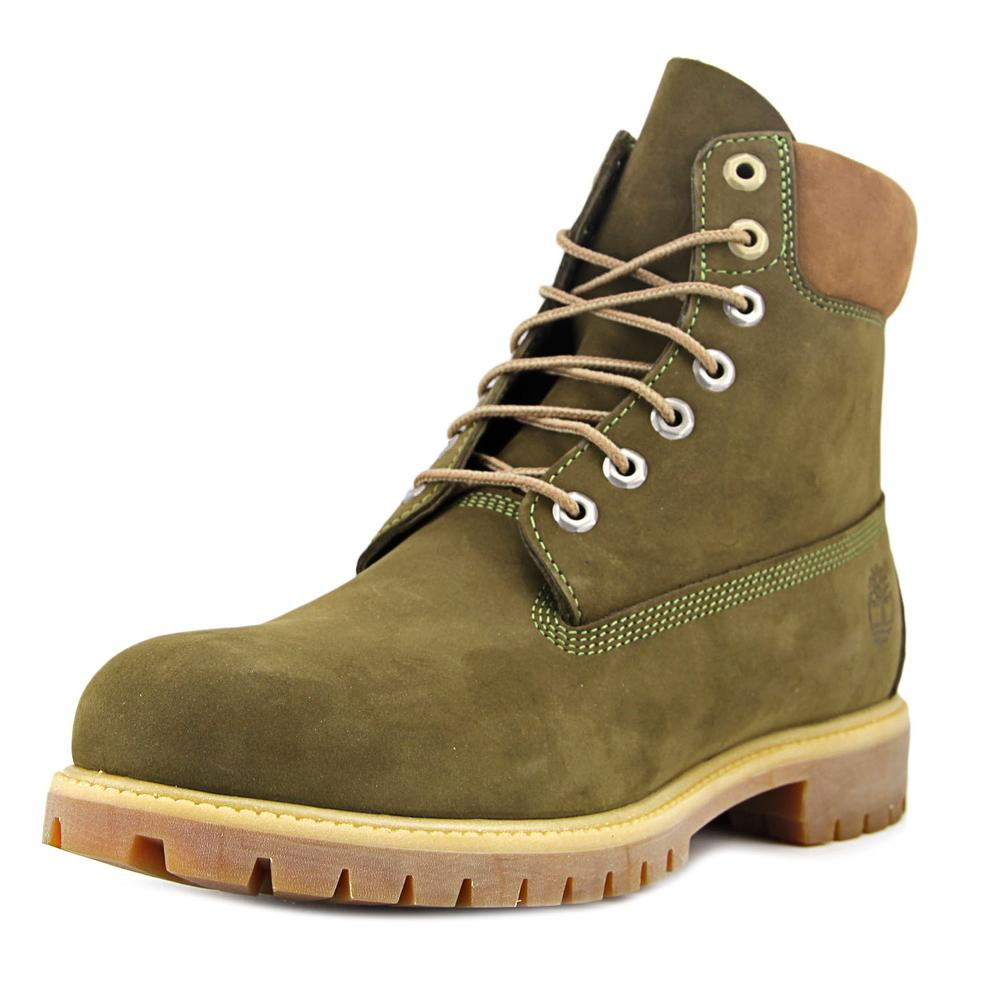Timberland 6 in Prem Men Round Toe Leather Green Work Boot by Timberland