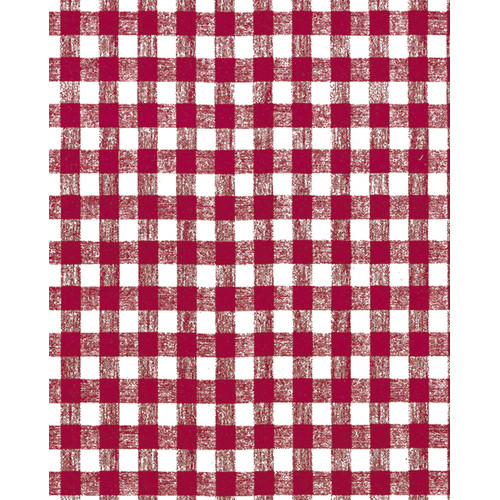 Kittrich 56.5'' x 60 Red Gingham Unsupported Vinyl (Set of 60)