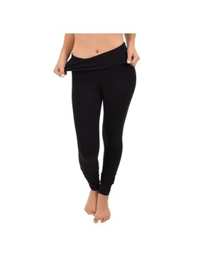 bc87c944e48 Product Image Women s Foldover Full Length Cotton Leggings - X-Small (0-0)   . Product Variants Selector. Black Turquoise. Stretch Is Comfort
