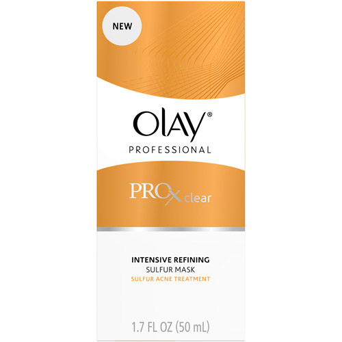 Olay Professional ProX Clear Intensive Refining Mask Sulfur Acne Treatment, 50 mL??