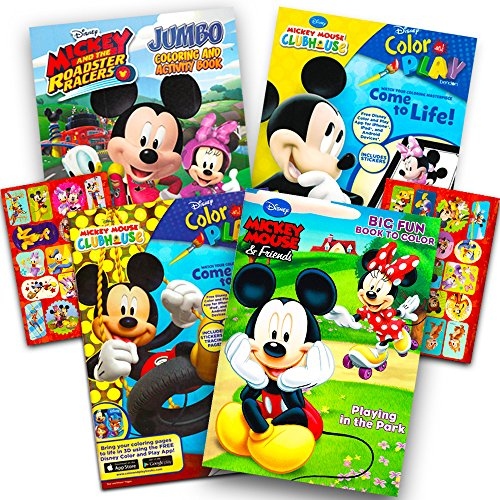 - Disney Mickey Mouse Coloring Book Super Set With Stickers (4 Mickey Mouse  Activity Books For Kids Toddlers) Walmart Canada