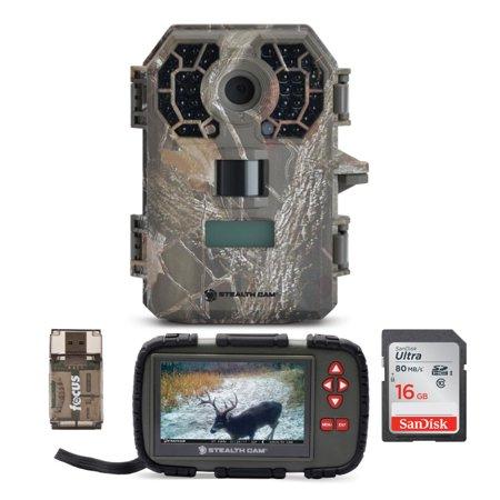 Stealth Cam G42NG 10MP No-Glow Trail Camera w/ Compact Viewer and SD Card Bundle thumbnail