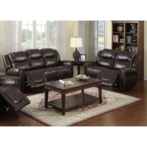 Beverly Fine Furniture Toledo 2 Piece Bonded Leather Reclining Living Room  Sofa Set