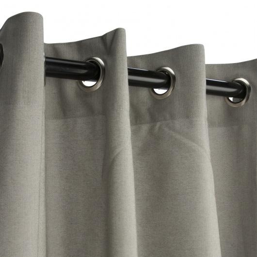 Sunbrella Spectrum Dove Outdoor Curtain with Nickel Plated Grommets 50 in. x 108 in.