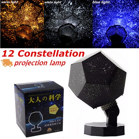 3 Colors/Warm Color Bulb Light Astro Star Sky Laser Projector Cosmos Celestial Baby Sleeping Night Light Lamp Gift Romantic Home Decor](Bulk Night Lights)