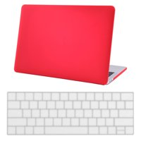 MacBook Pro 13 Case 2016 Release Keyboard Skin and Hard Shell Bundle Matte Cover fits all Apple Mac Pro 13 inch 2016 Models both Touch Bar (A1706) and non Touch Bar (A1708) - Red