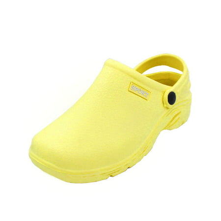 sport women's solid slingback garden clogs (Darling White Shoes)