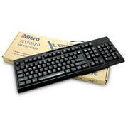 iMicro KB-US819EB 107-Key Slim Comfort Enhanced USB Keyboard - Black - NEW