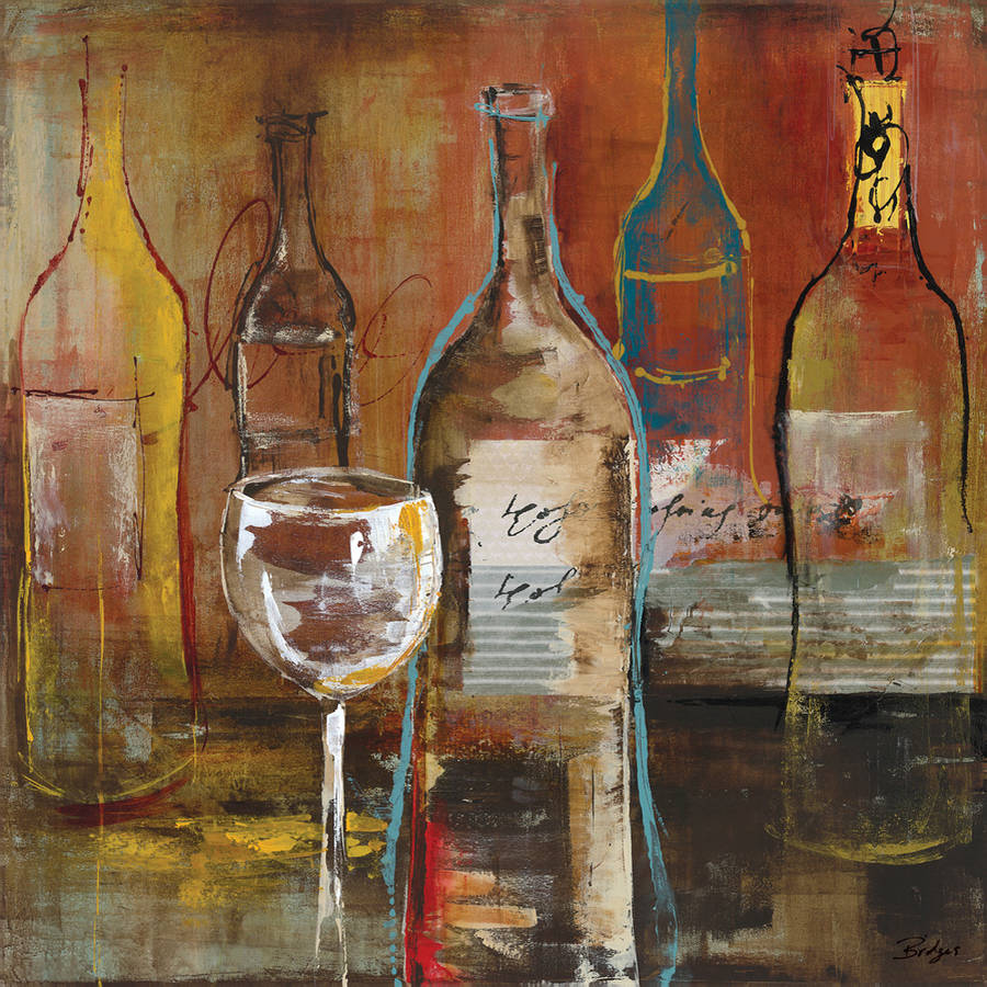 """Portfolio Canvas Decor """"Wine Cellar II"""" by Bridges Wrapped and Stretched Canvas"""