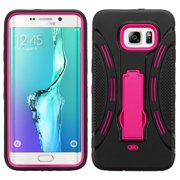 For Galaxy S6 edge Plus Hot Pink/Black Symbiosis Stand Protector Cover