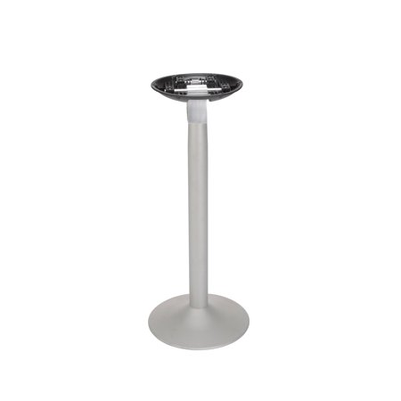 4 Contemporary Silver Finish (Ofminc Restaurant Furniture Durable & Stylish Contemporary Cafe Height Design Silver Finish Base Table Top)