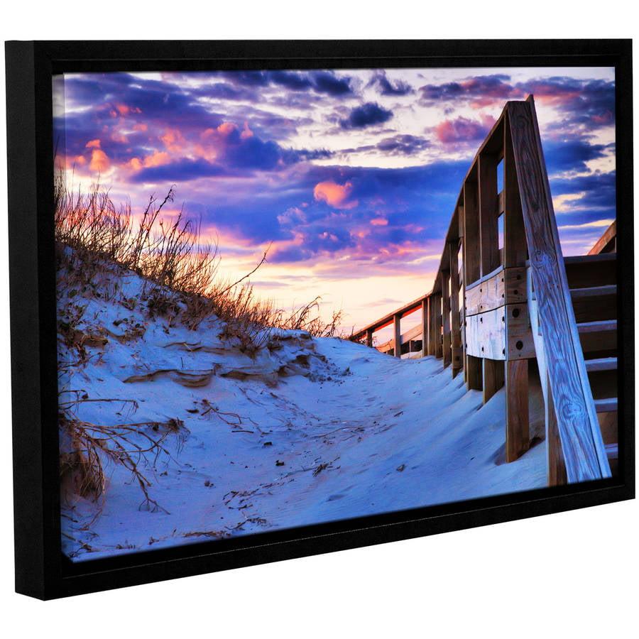 ArtWall 3 Piece Steve Ainsworths Sunset at Ocracoke Floater Framed Canvas Set 36 x 54
