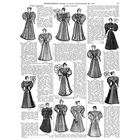 Womens wear 1895 nready made wrappers for women from the for Free craft catalogs mail