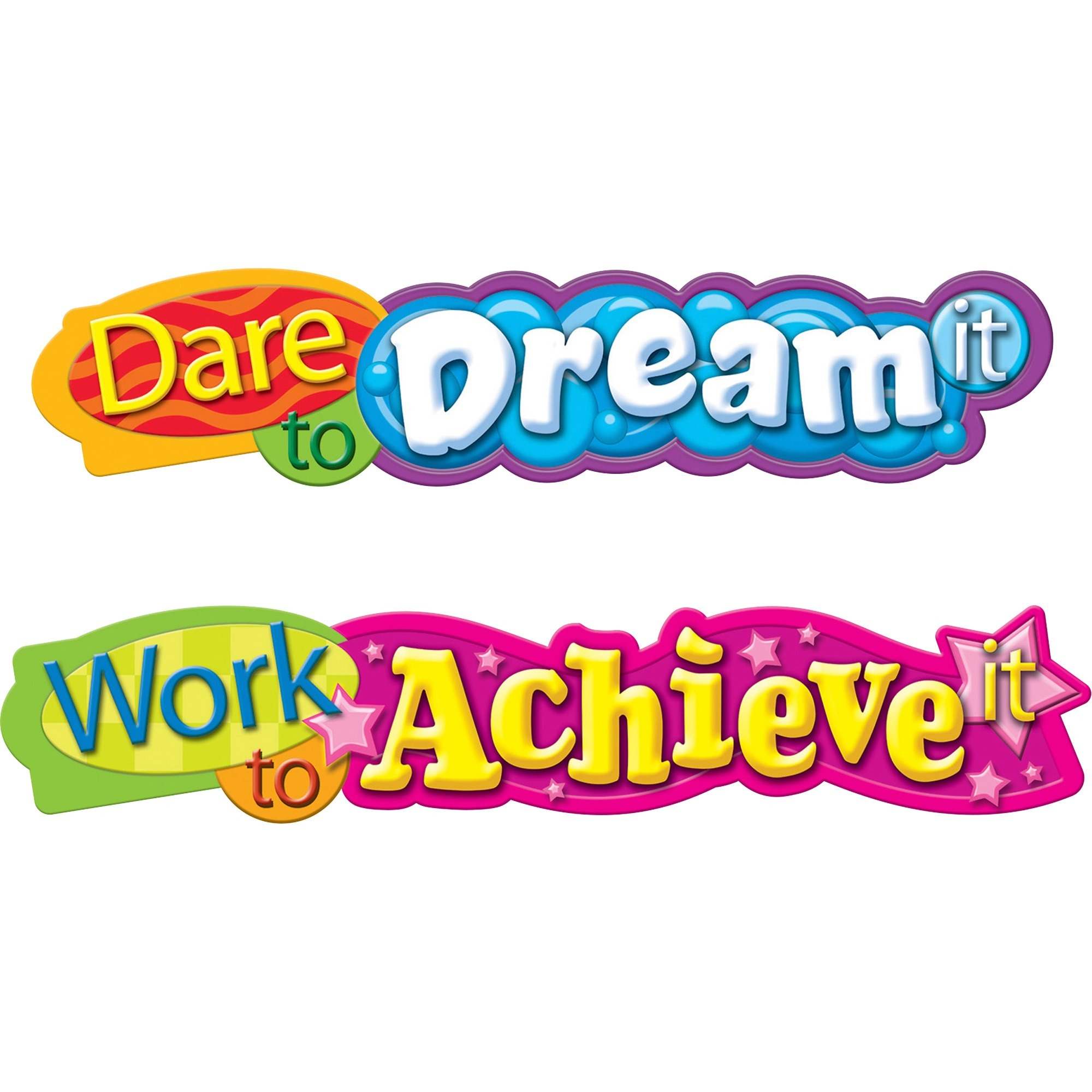 Trend, TEPT25053, Dare To Dream Expressions Banner, 1 Each, Assorted