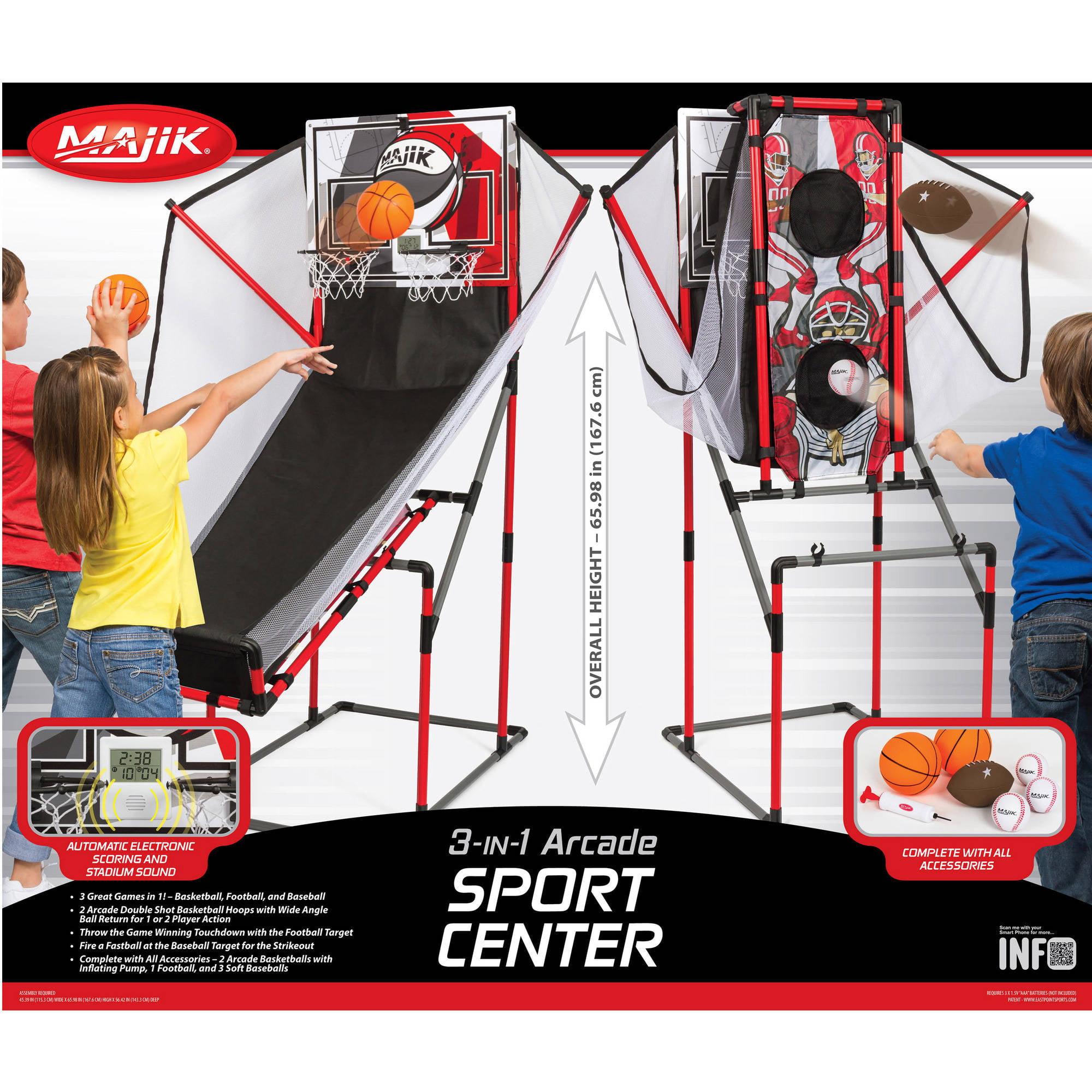 Majik 3-in-1 Arcade Sport Center Game System