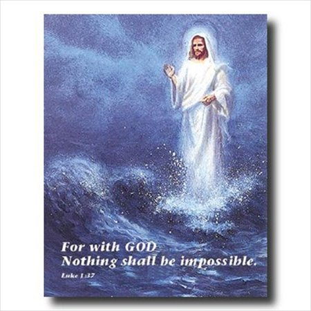 - Jesus Christ Walking On Water Wall Picture Art Print