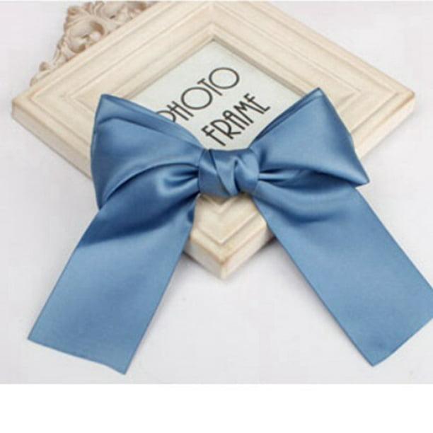 Hair Bow Ribbon Satin Women Hairband Band Clip Accessories Girls Hairpin Gift