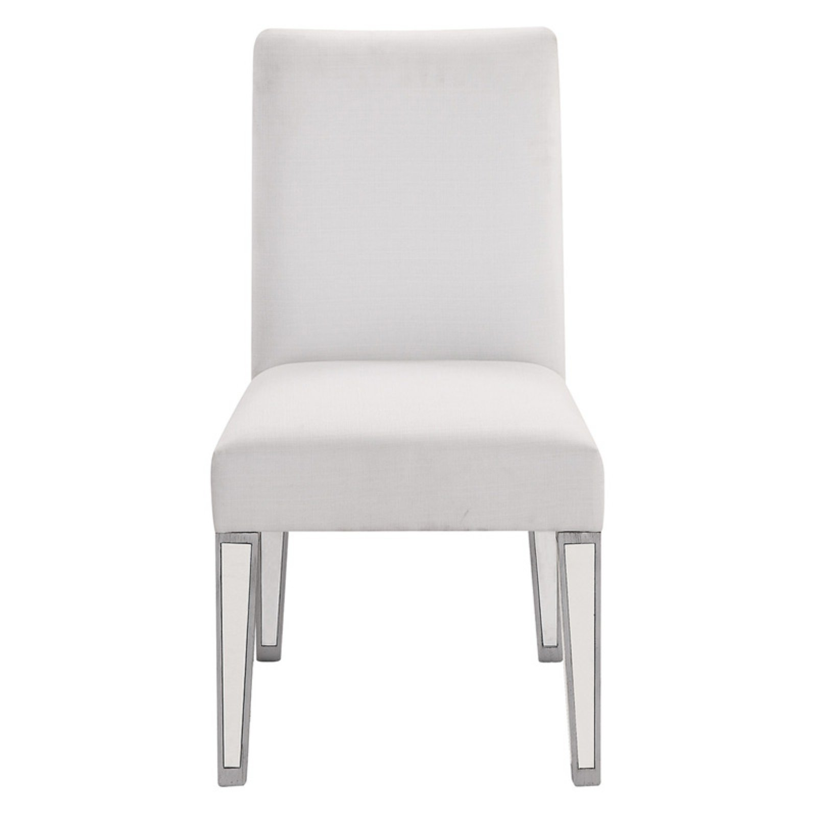 Elegant Lighting Mirrored Side Chair, Silver