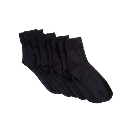 Womens Comfortsoft Cuff Socks, 3 Pack ()