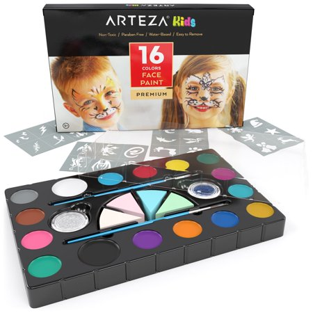 Arteza Kids Face Paint 16 Colors Kit](Walmart Face Paint Halloween)
