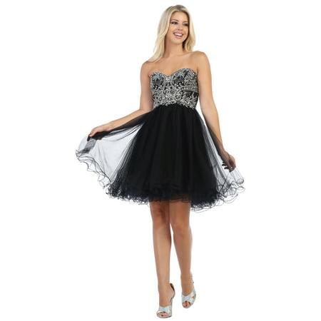 May Queen - SEMI FORMAL SWEETHEART COCKTAIL DRESS - Walmart.com 84ebae9eb