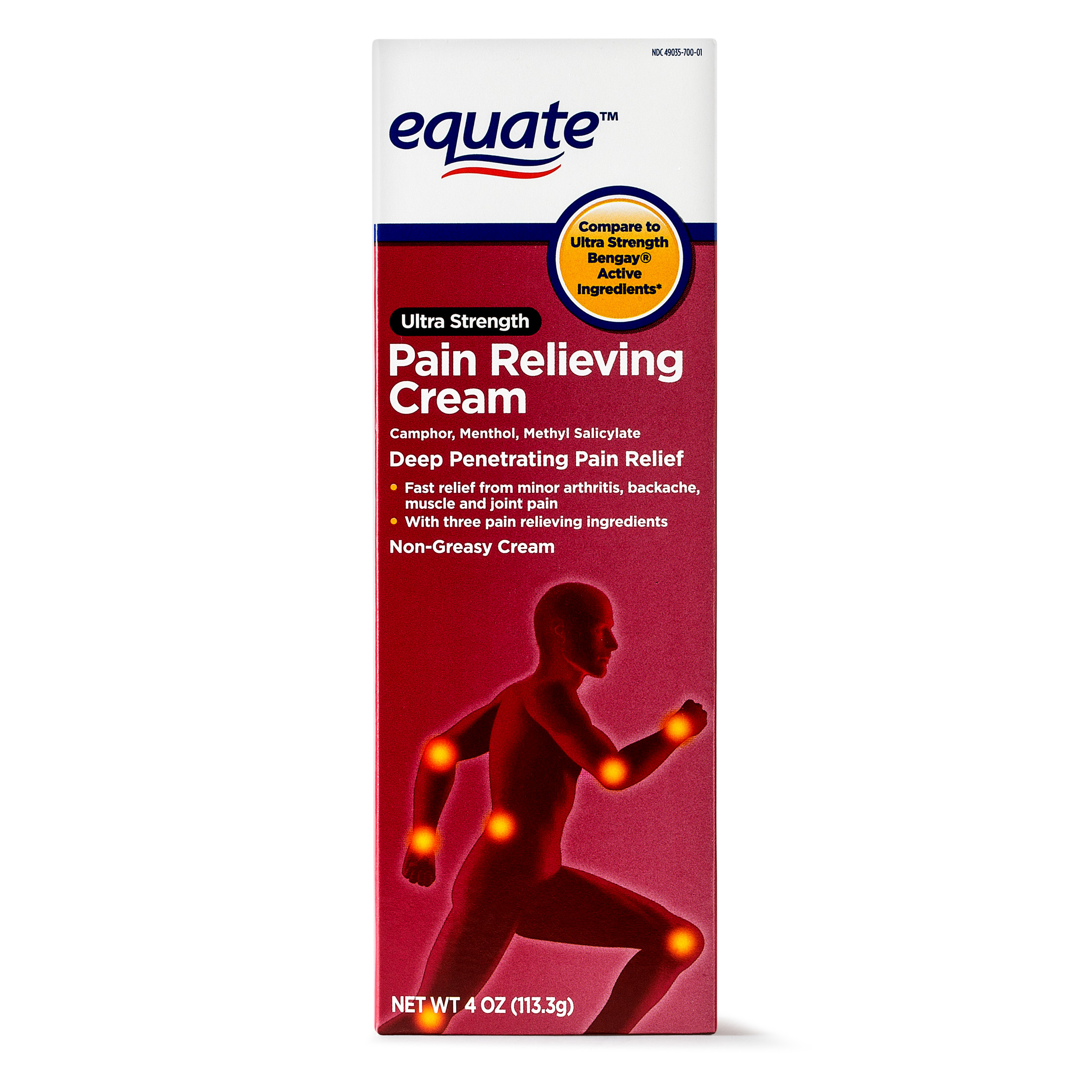 Equate Ultra Strength Pain Relief Cream, 4 Oz