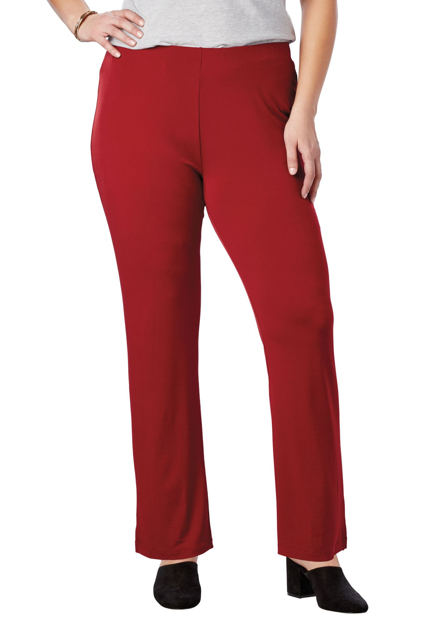 Woman Within Plus Size Tall Simply Special Knit Slim Pant