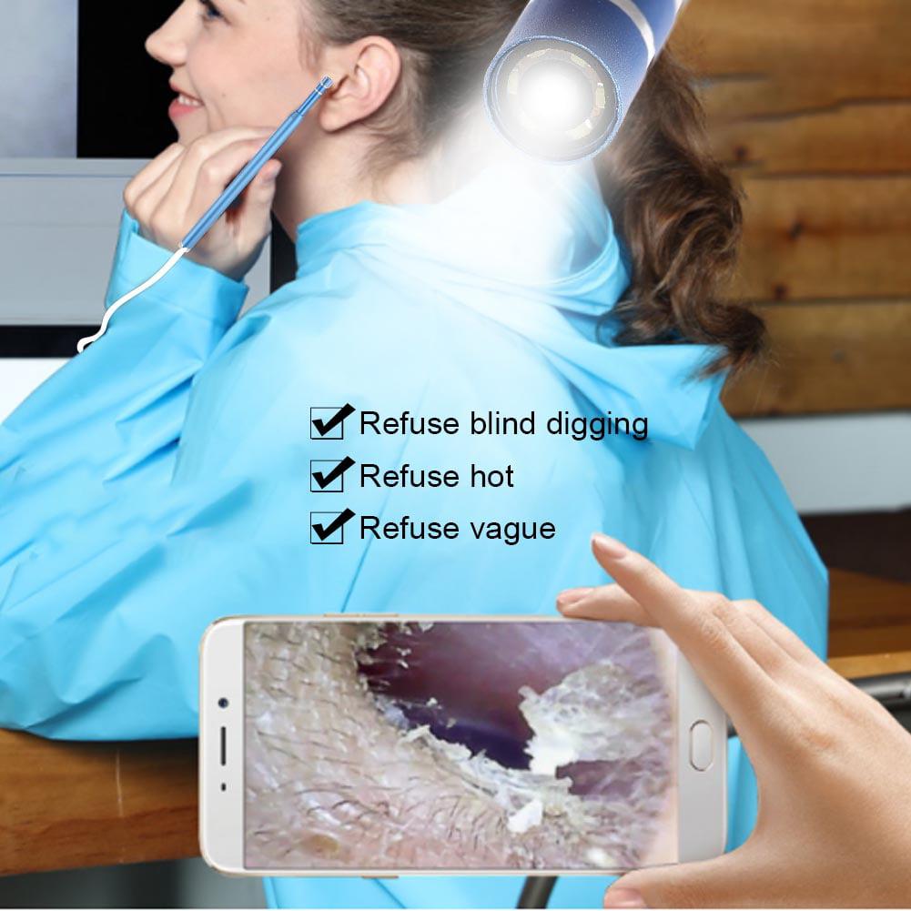 3 IN 1 USB Visual Earpick 1.3 Million Camera Endoscope Ear Cleaning Spoon Tool, Endoscope Visual Ear Cleaning Spoon, USB Visual Earpick