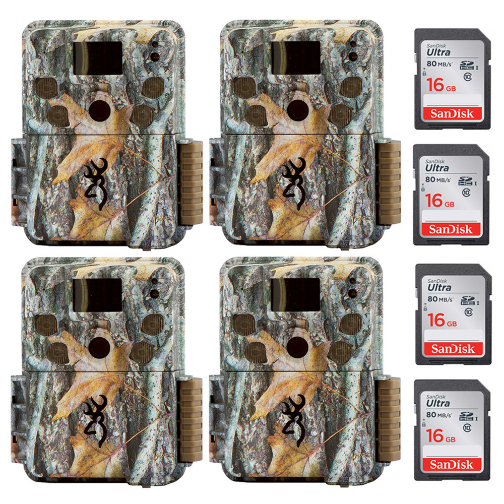 Browning Strike Force Pro 18MP Game Camera with 16GB Card (4-Pack) by Browning