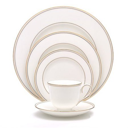Lenox Federal Gold Bone China 5 Piece Place Setting Monroe Lenox China