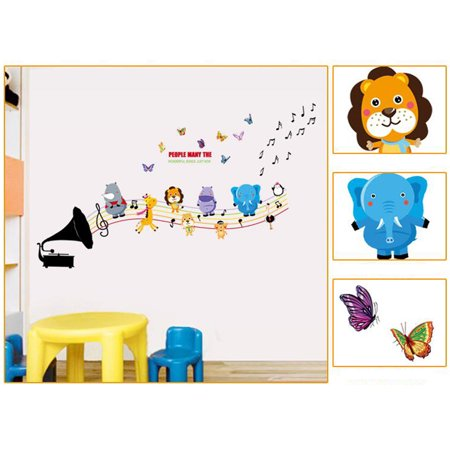 Wall Decoration Sticker Cartoon Wall Decals DIY Removable Wallpaper Children's Room Bedroom Kindergarten Classroom Layout Toddler Kids - image 6 de 8
