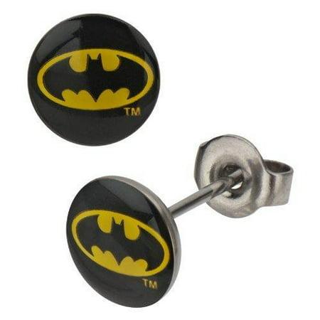 316L Surgical Steel, Batman, Stud, Post Earrings Sold as a pair (Surgical Steel Post Earings)
