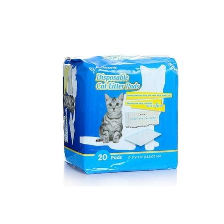 Cat Litter Pads, 20 ct, plastic - Cat Pad