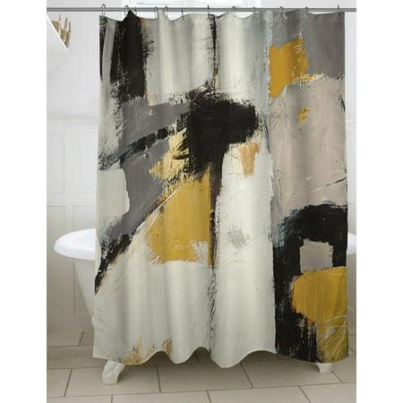 Thumbprintz Yellow Catalina 1 Shower Curtain