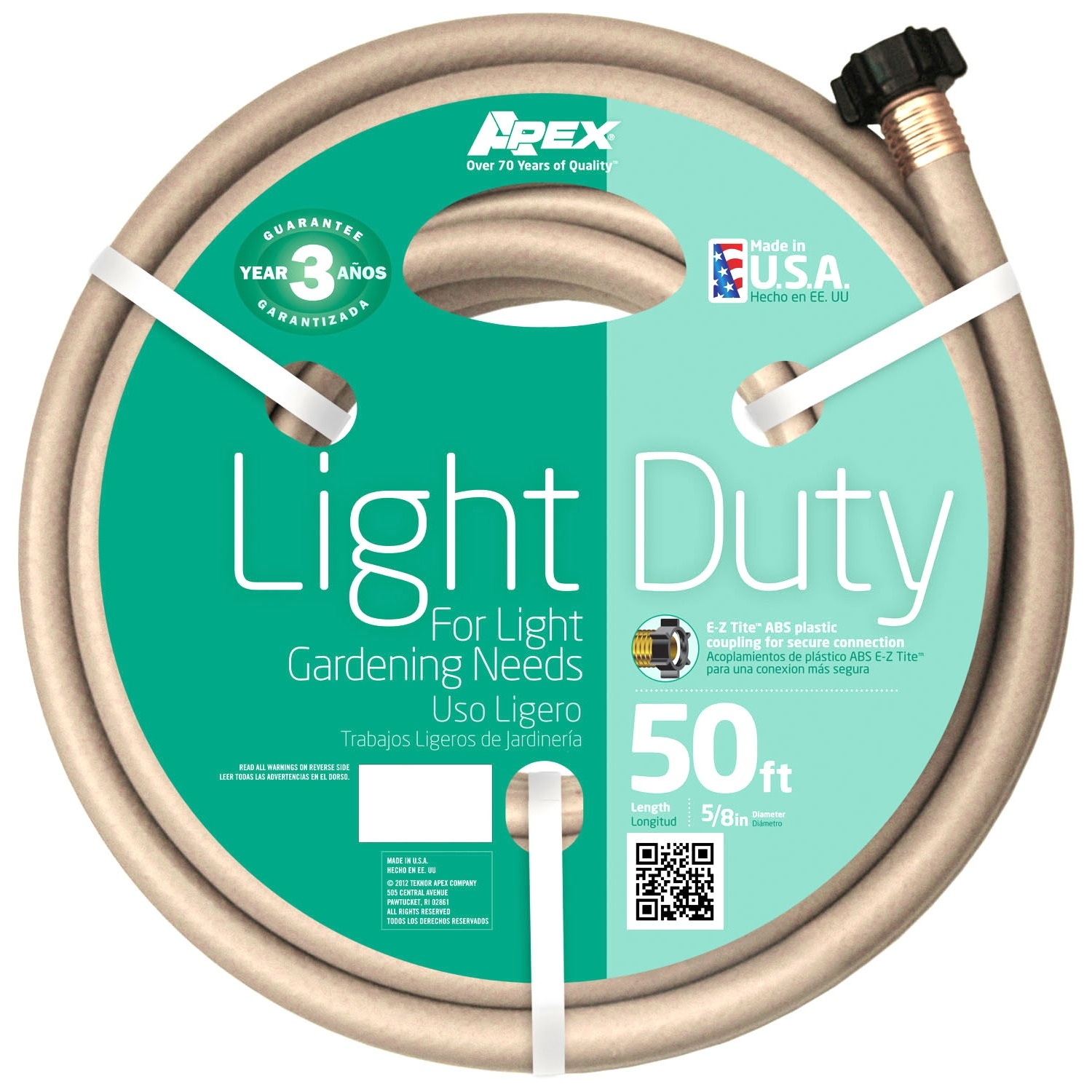 "Teknor Apex 8400-50 5 8"" x 50' Light Duty Garden Hose by Teknor Apex Company"