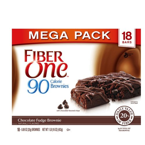 Fiber One? 90 Calorie Chocolate Fudge Brownies 18-0.89 oz. Wrappers
