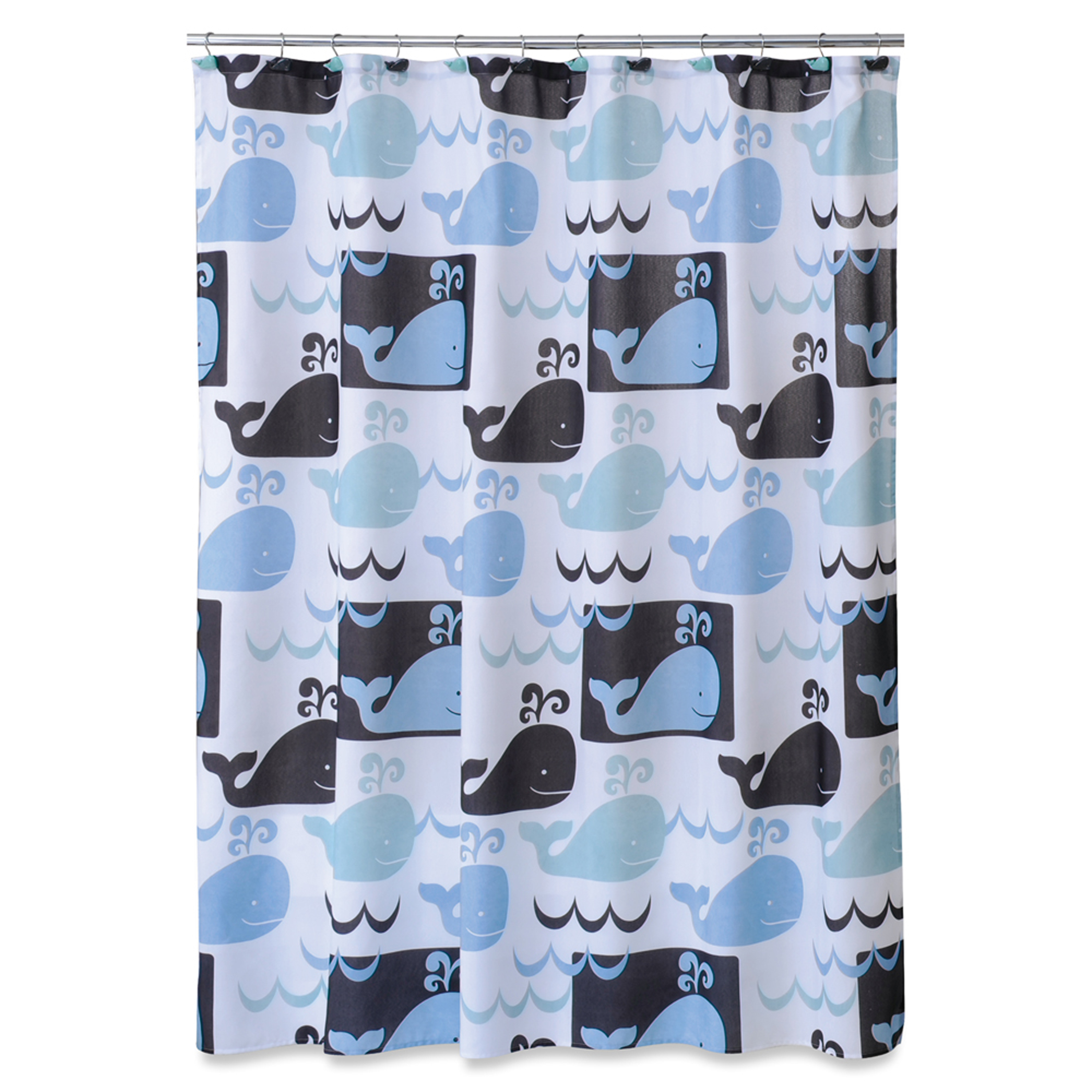 Whale Watch Fabric Shower Curtain
