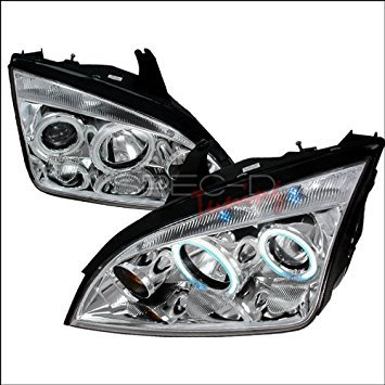- Spec-D Tuning Ford Focus 2005 2006 2007 2008 2009 2010 CCFL LED Halo Projector Headlights - Chrome