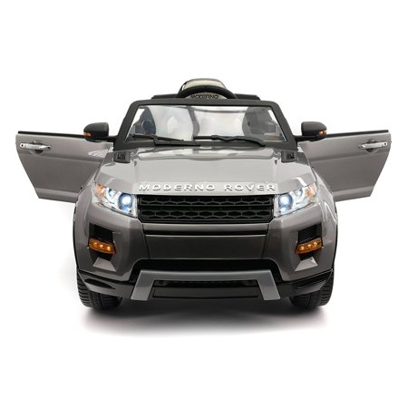 Range Rover Style 12V Kids Ride-On Car MP3,4 Battery Powered LED Wheels R/C Grey 6 Wheel Range Rover