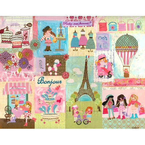 Oopsy Daisy A Piece of Paris by The Winborg Sisters Canvas Art