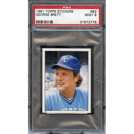 1981 topps stickers #82 GEORGE BRETT kansas city royals PSA - Kansas City Royals Stickers