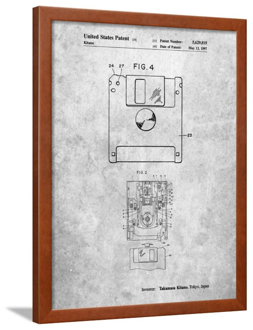3 1/2 Inch Floppy Disk Patent Framed Print Wall Art By Cole ...  Pit Schematic Diagram on