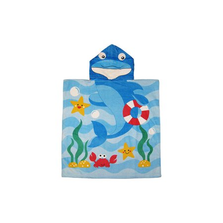 Bath Towels Kids Dolphin Hooded Bath Towel