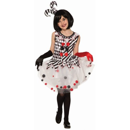 Halloween Harlequin Clown Child (Harlequin Commedia Dell'arte Costume)