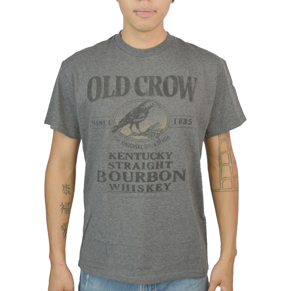 Old Crow Straight Bourbon Charcoal Licensed T-shirt NEW Sizes M-XL