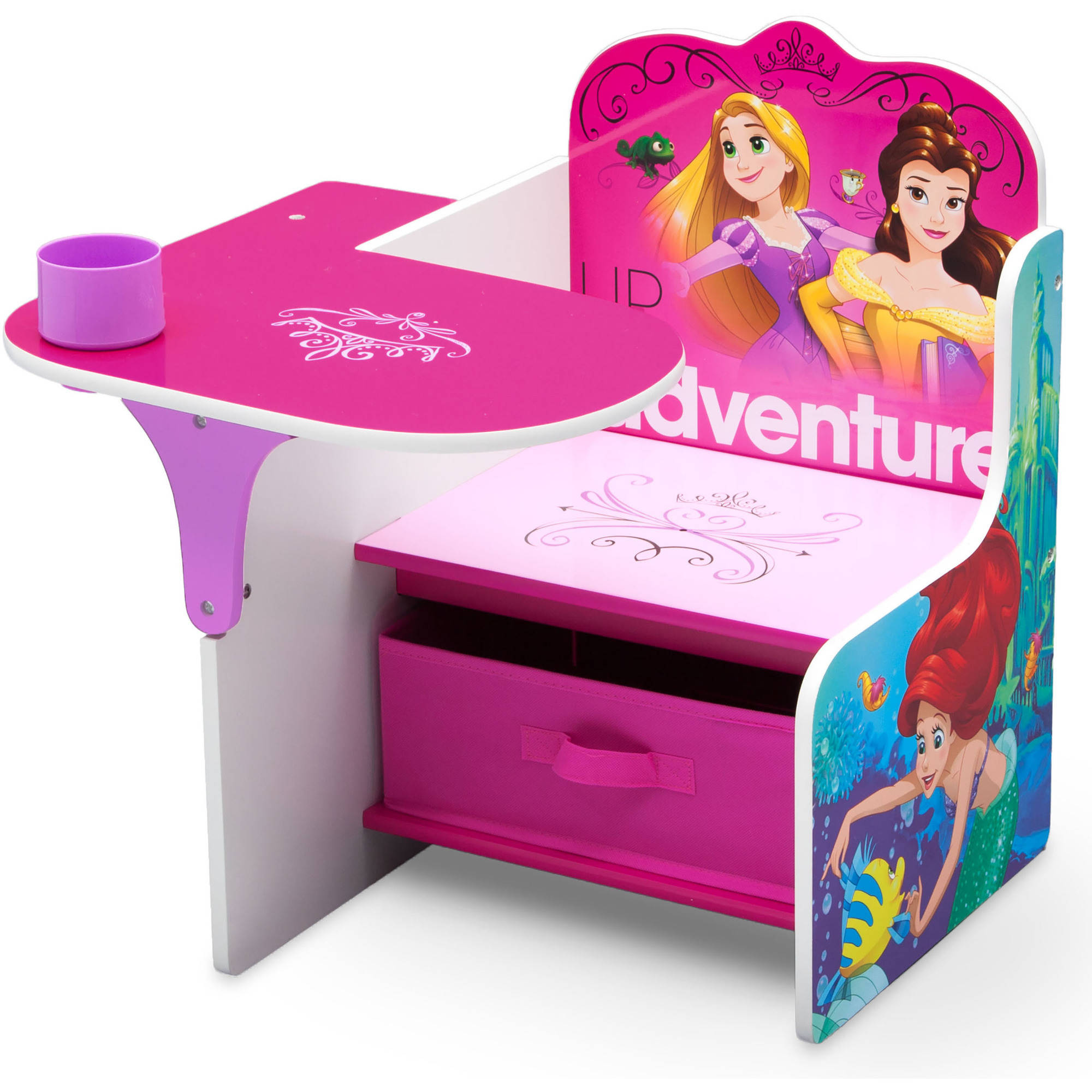 Disney Princess Chair Desk with Storage Walmart