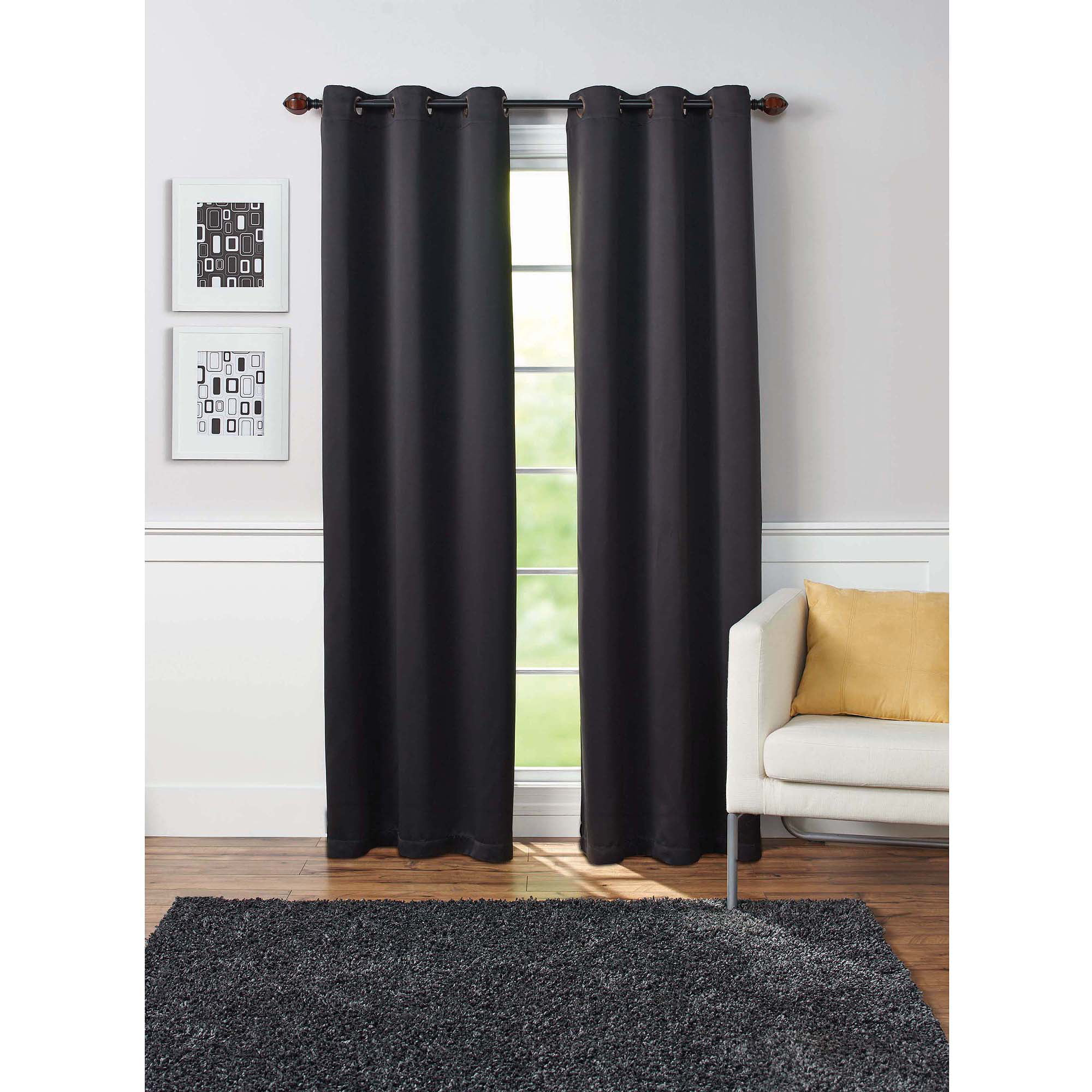 panel polka of black blackout curtain walmart com ip dots set curtains and white
